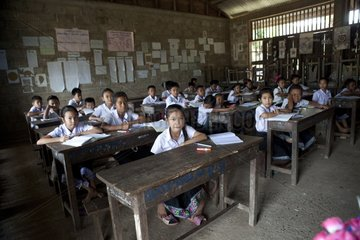 Classroom in a rural village in Laos