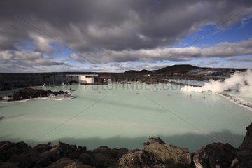 Geothermal lake of Blue Lagoon Iceland