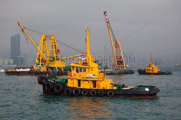 tugboat in Hongkong harbour