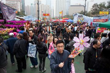 new year shopping in Hongkong