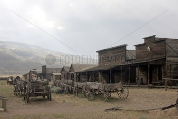 Reconstitution of a city of pioneers in Cody USA