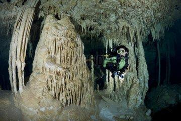 Scuba Diver in the Zapote Dreamgate - Yucatan Mexico