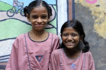 Schoolgirls of the Tomorrow Foundation in Calcutta India
