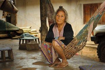 An older Hmong woman Nan region Thailand