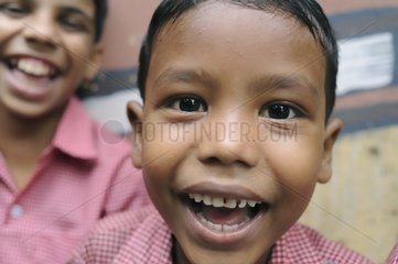 Schoolchildren from the Tomorrow Foundation in Calcutta India