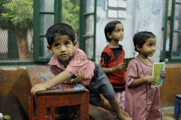 Pupils supported by the Foundation for Tomorrow Calculta India