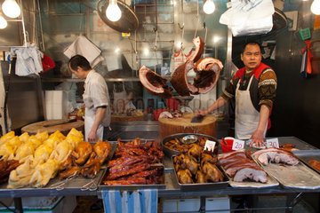 meat market in Hongkong  China