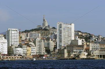 Notre-Dame de la Garde and the range of Catalans in Marseille