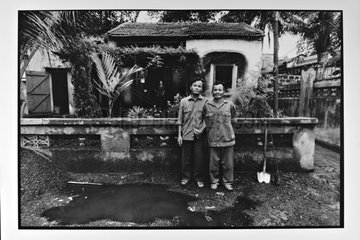 People posing in the cottages of Hongai Vietnam