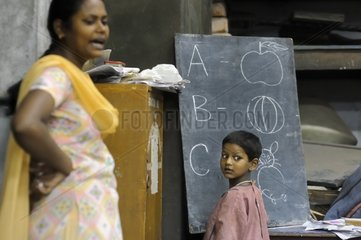 Schoolchildren from the Tomorrow Foundation in Calcutta India