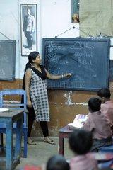 Teacher in a school for Tomorrow Foundation India