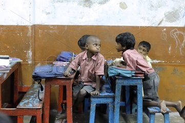 Schoolchildren in a school for Tomorrow Foundation India