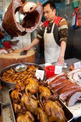 meat market in Hongkong  China