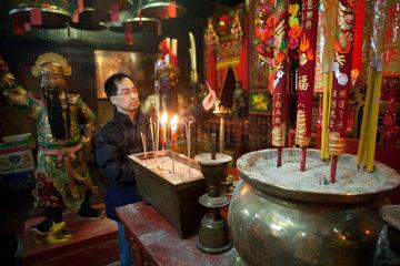 buddhist temple in Hongkong