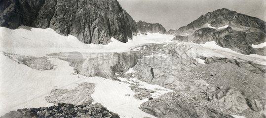 Glacier de Las Neous in 1925 Pyrenees France