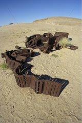 Remain du' a caterpillar of tank Namibia