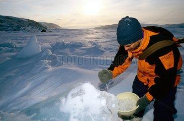 Corvée de glace Ellesmere island Jokel fjord Canada