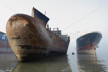 Shipbreaking yard in Bangladesh