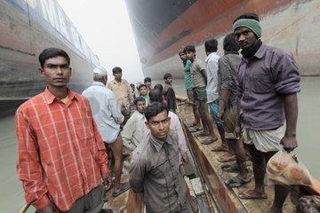 Workers of Shipbreaking yard in Bangladesh