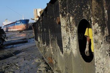 On a shipbreaking yards in Bangladesh