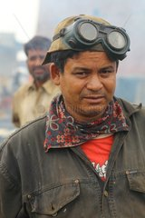 Worker on a shipbreaking yards in Bangladesh