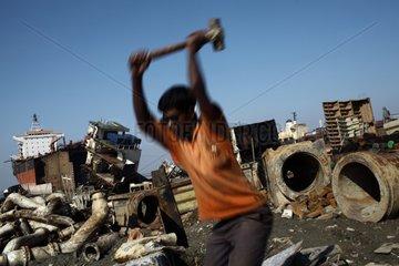 Worker on a ship-breaking yard Bangladesh