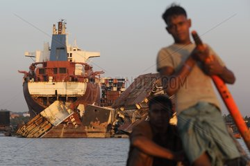 Fishermen near a demolition site naval Bangladesh