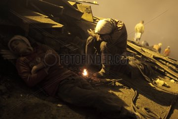 Workers in a Shipbreaking yards in Bangladesh