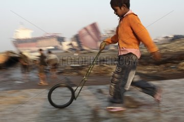 Boy on the Bangladesh shipbreaking yards