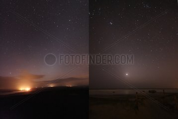 Zodiacal lights of morning and evening Mont Arrée France