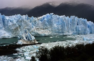 Out of ice blocks of the Perito Moreno Glacier Patagonia