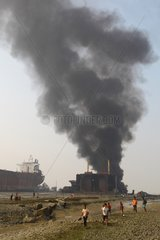 Explosion on a ship breaking yards in Bangladesh