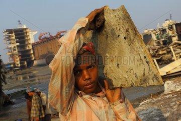 Child on a shipbreaking yard Bangladesh