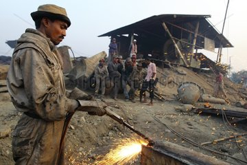 Worker on a ship-breaking yard Bangladesh