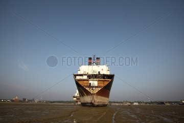 Vessel being on a demolition site Bangladesh