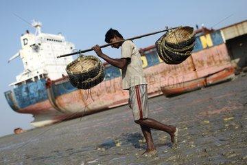 Fisherman near a shipbreaking yard Bangladesh