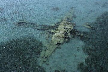 Plane wreck in the shallow Walindi Bismark Archipelago