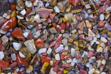 Semiprecious stones for sell at Swakopmund in Namibia
