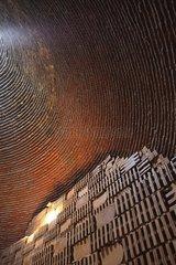 Inside the brick kiln in Cambodia