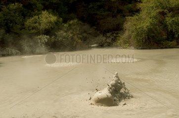Volcanic boiling mud New Zealand