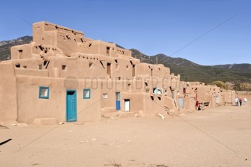 Community House in the Indian village of Taos Pueblo