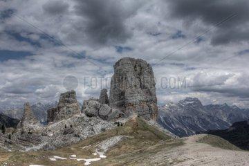 Cinque Torri Dolomites Alps Italy