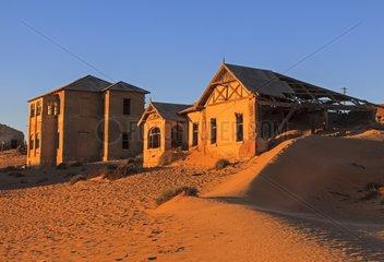 Sandy ghost town of Kolmanskop Namibia