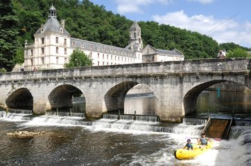 Canoeing and Abbey on the Dronne river Perigord France
