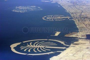 Aerial view of Palm Jumeirah Dubai