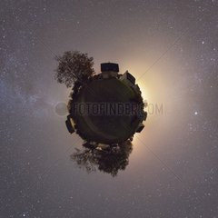 Milky way disappearing in luminous pollution