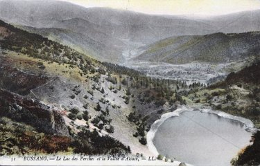 Lake perch at spring in 1908 PNR Ballons des Vosges France