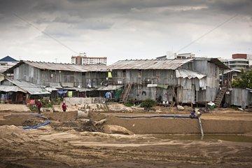 Work in a poor neighborhood in Bangkok Thailand