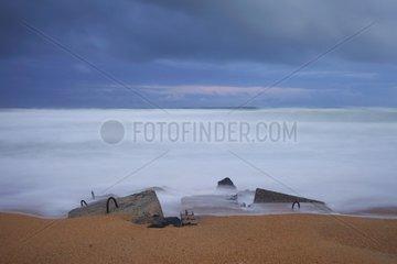 Blockaus of World War II Atlantic Coast France