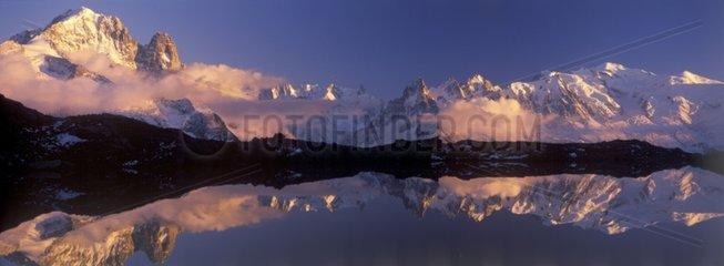 Mont Blanc from Les Aiguilles Rouges
